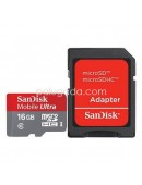 Sandisk Micro SD Class 10 16GB with Adapter