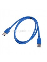 Kabel USB Extension Male - Male Biru - 1.5 Meter