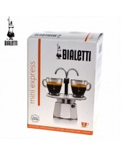 Bialetti Mini Express 2 Cup - Moka Pot Cups - Espresso Coffee Maker