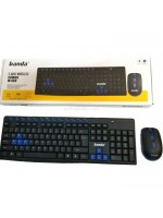 Banda W400 Wireless Keyboard Mouse Combo - Keyboard Mouse Tanpa Kabel