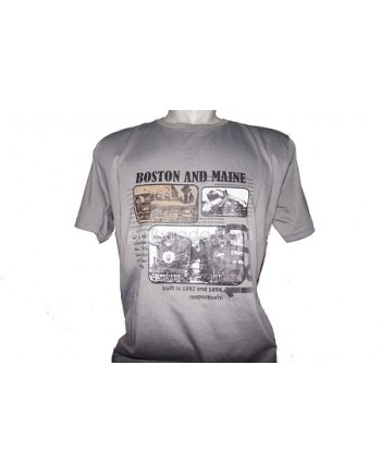 CYL Kaos T-Shirt Distro Boston and Maine - Grey