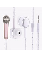 Earphone & Mini Mic Bulat Portable