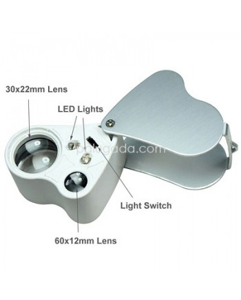 Magnifier Jewelry LED Double Multiple