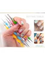 Nail Art Pen Dotting Tool - Alat Membuat Nail Art 1 set isi 5 Pcs