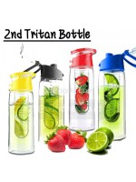 Tritan Water Bottle With Fruit Infuser Generasi 2
