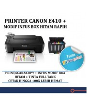 Canon E410 Pixma Printer Infus Modif Box Hitam Blueprint