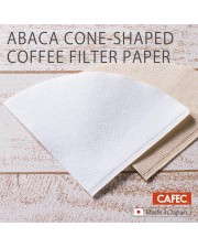 CAFEC AC4-100B Abaca Cone Coffee Brown Paper Filter 02