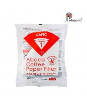 Cafec Abaca AC1-100W V60 Paper Filter 01 isi 100 White
