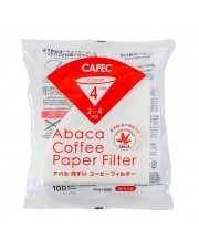 Cafec Abaca AC4-100W Filter Paper V60 02 White Isi 100 pcs