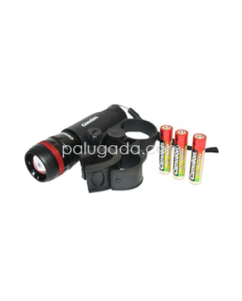 Camelion Flash light T556S + Handle Sepeda