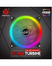 Fantech FC-124 FC124 RGB Turbine Dual Side Illuminated Fan Casing PC