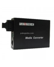 Flextreme FL-8110GMA-11-5-AS: Media Converter 10/100/1000 Mbps to 1000SX, Multi-Mode 550 Meter, SC