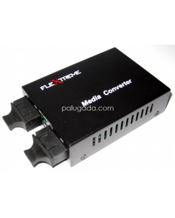 Flextreme FL-100MM-SM: Media Converter  Multimode 2 km to Single Mode 20 km , 100 Mbps
