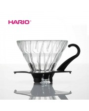 Hario VDG-01B V60 Glass Coffee Dripper Black