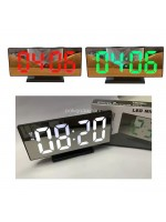 DS-3618L Jam Meja Digital LED Mirror Alarm Clock DS3618L