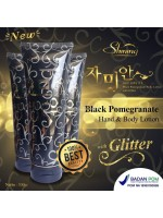 Shining Black Pome Lotion - Black Pomegranate Body Lotion with Glitter