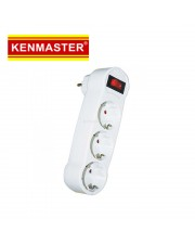 Kenmaster 002K3 Steker 3 Colokan Switch On Off