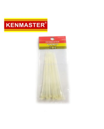 Kenmaster Cable Ties 3X150mm 25Pcs White