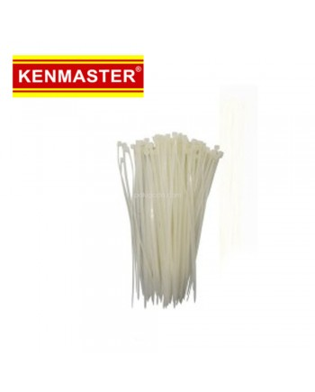 Kenmaster Cable Ties 3X150mm 200Pcs White