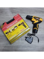 Kenmaster KM0612 Bor Cordless Drill Plus Box Reversible 12V 10mm
