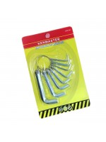 Kenmaster Kunci L Set 10 Pcs - Hexagon Key Wrench Set Chrome