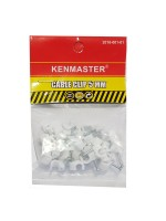 Kenmaster Cable Clip 5mm isi 35 pcs - Klem Kabel