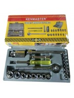 Kenmaster Kunci Sok 21 Pcs Socket Wrench Set