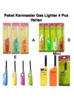 Paket Kenmaster Gas Lighter 4 Pcs Varian A D E Mini