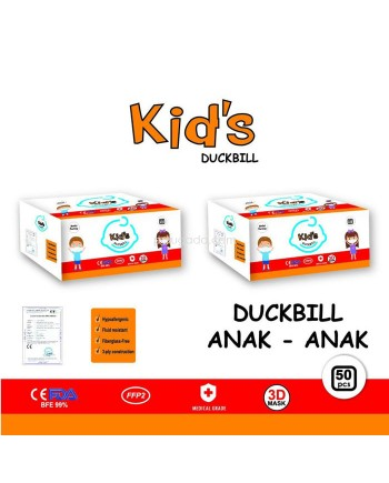 Masker Duckbill 3 Ply isi 50 Pcs Anak Duck Bill Mask