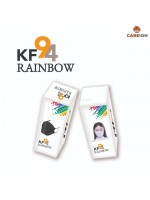 CAREION KF94 Masker Rainbow 4 Ply isi 20 Pcs 10 Warna