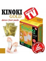 Kinoki Gold Cleansing Detox Foot Pads isi 10pcs - Koyo Kaki Herbal