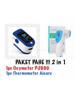 Paket Aicare Thermometer P2000 Oximeter Fingertip Pulse TFT 2 Warna