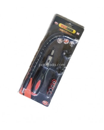 Neo Power Drill Bit Extender - Obeng Portable Flexible 18 in 1