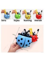 Tempat Sikat Gigi Tempel Motif Kumbang - Lady Bug Tooth Brush Holder
