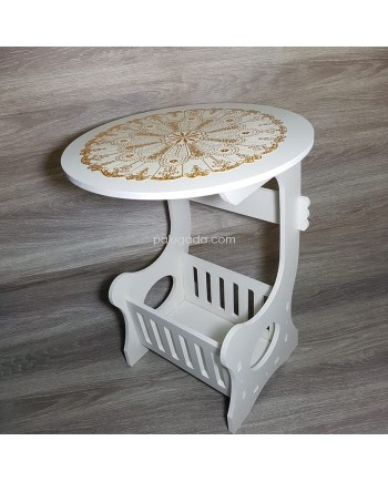 Meja Bulat Samping - Small Round Coffee Tea Table