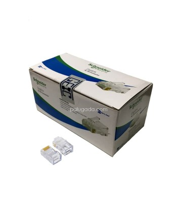 Schneider Electric Digilink Connector RJ45 cat 5e cat 6 - Konektor UTP 1 box isi 100 pcs