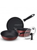 Panci Wajan Anti Lengket 3 Set - Non Stick Cookware Sets