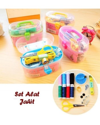 Sewing Set Kit Box - Peralatan Jahit Box