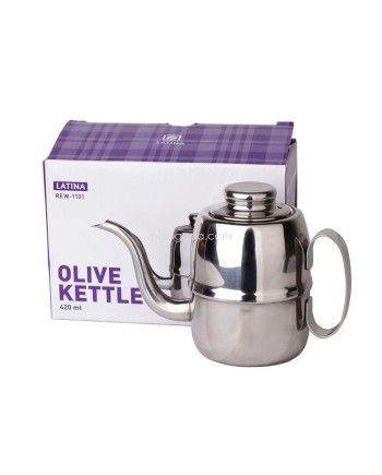 Latina REW-1101 Olive Kettle 420ml - Teko Kopi 420 ML Coffee Kettle