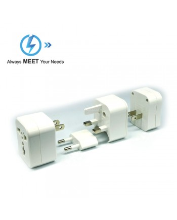 Meet M-898 Steker Universal Travel Adapter Plus USB