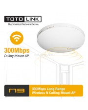 Totolink N9 300Mbps Long Range Wireless N Ceiling Mount AP
