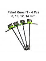 Paket Tekiro Kunci T Wrench Sock 4 Pcs 8 10 12 14 mm