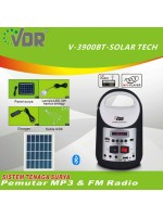 VDR V-3900BT Solar Tech Mobile Power Multifungsi Radio dan MP3 Player