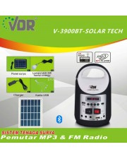 VDR V-3900BT Solar Tech Portable Multimedia Player Multifungsi
