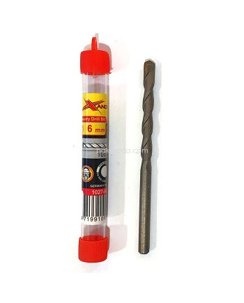 Xander Mata Bor Beton 6mm x 100mm - Masonry Drill Bit for Concrete
