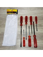 Xander Obeng Ketok Plus Minus set 7pcs - Screwdriver Red Handle