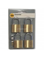 Yale YE1-40-122-4 Indoor Brass Padlock 40mm Gembok isi 4 pcs