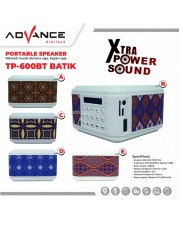Advance TP-600BT Batik Speaker Portable Bluetooth