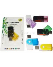 Card Reader USB All In 1 - 4 Slot Model Flashdisk Putar