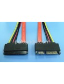 Kabel Power Data SATA Male to Female - 70 Cm